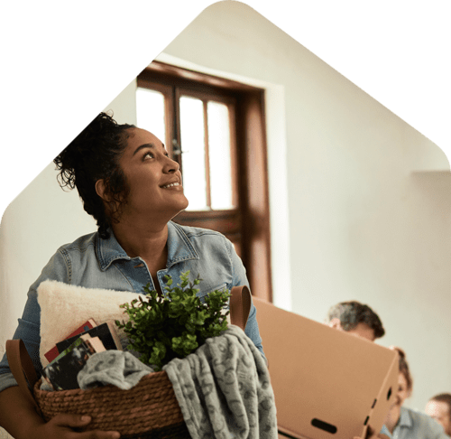 happy renters moving in