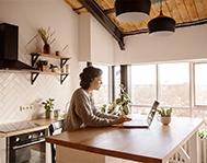 renter-listening-to-music-in-kitchen