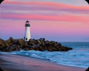 lighthouse in santa cruz beach