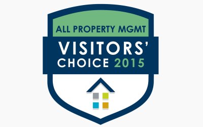 All Property Management 2015 Visitor's Choice Award