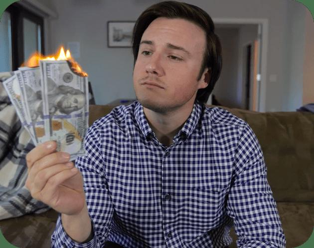 renter burning rent money