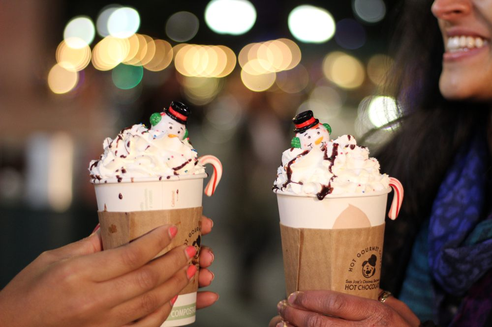 san jose christmas in the park hot choco