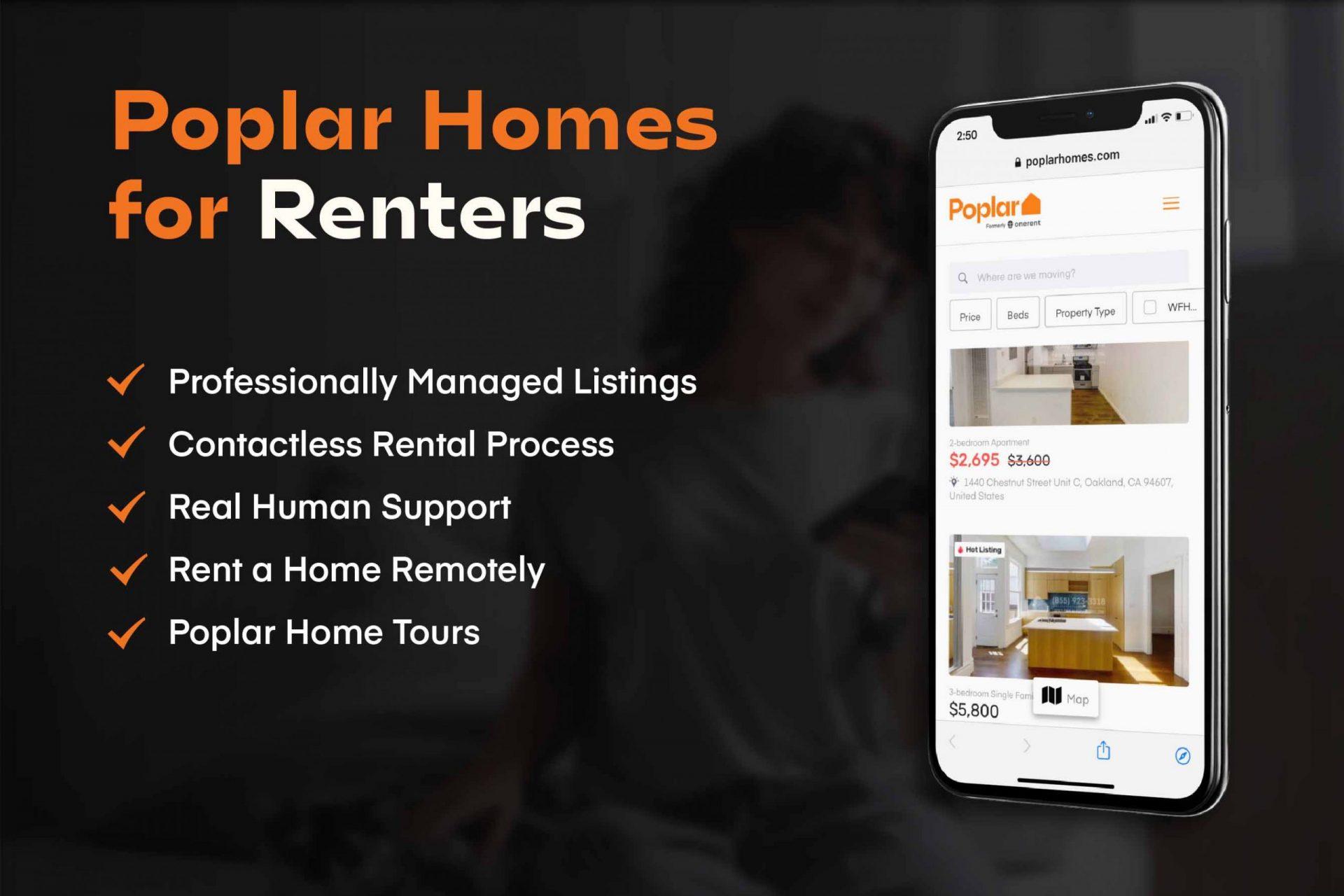 poplar homes for renters