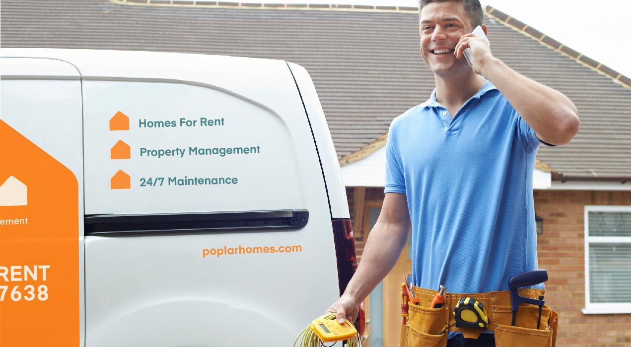 maintenance guy calling rental homeowner